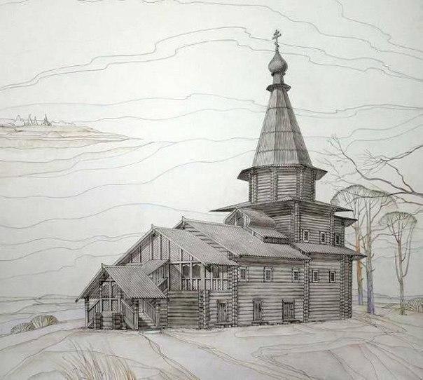 Таким построили храм предки. (Гипотеза) Просим помощи в поиске фотографии на начало 20 в и документов по устройству храма.